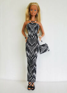 Fits-SuperSize-Barbie-Clothes-Dress-beaded-Purse-amp-Jewelry-HM-Fashion-NO-DOLL-d4e