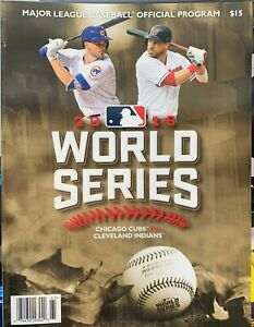 2016 WORLD SERIES PROGRAM ANTHONY RIZZO CHICAGO CUBS CHAMPS CLEVELAND INDIANS