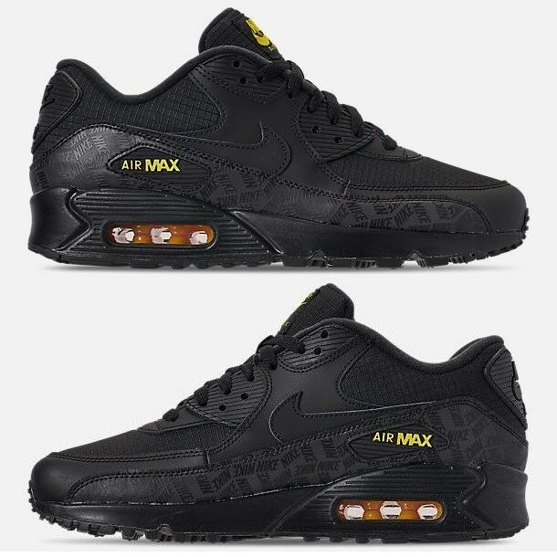 san francisco c9966 17a93 NIKE AIR MAX 90 ESSENTIAL MEN RUNNING BLACK - GOLD AUTHENTIC NEW IN BOX US  SIZE