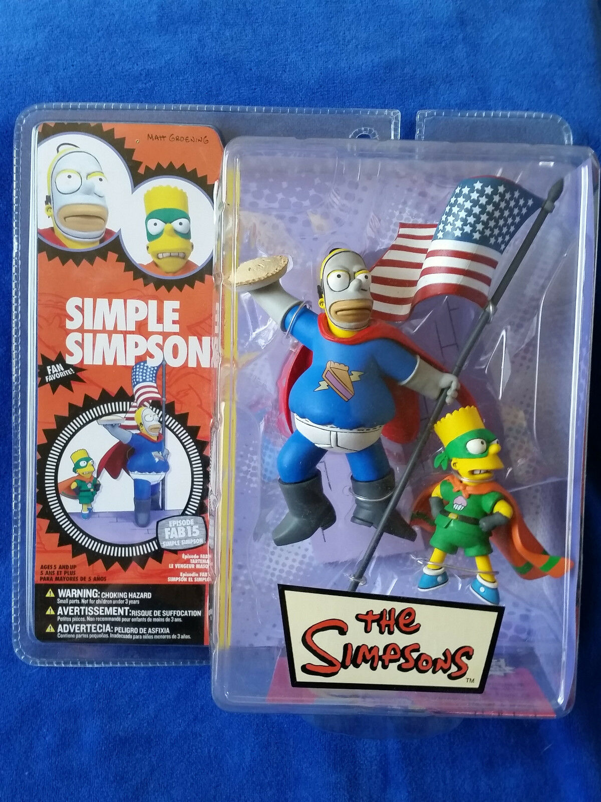 2007 McFarlane The Simpsons - Simple Simpson - Bart And Homer