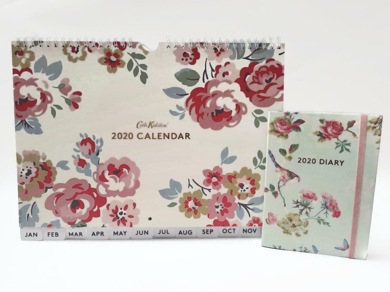 Calendario Rosa 2020.Cath Kidston Wells Rosa 2020 Calendario Da Parete Uccelli