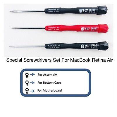 Set 9 Electronics Laptop Screwdrivers Torx Pentalobe for Apple MacBook Air//Pro
