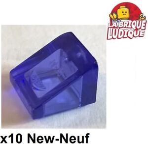 Lego x 10 Black Slope 30 1x1x2//3-54200 NEUF