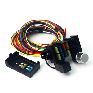 12v wiring harness 12v 10-circuit basic wire harness fuse box street hot rat ... #14