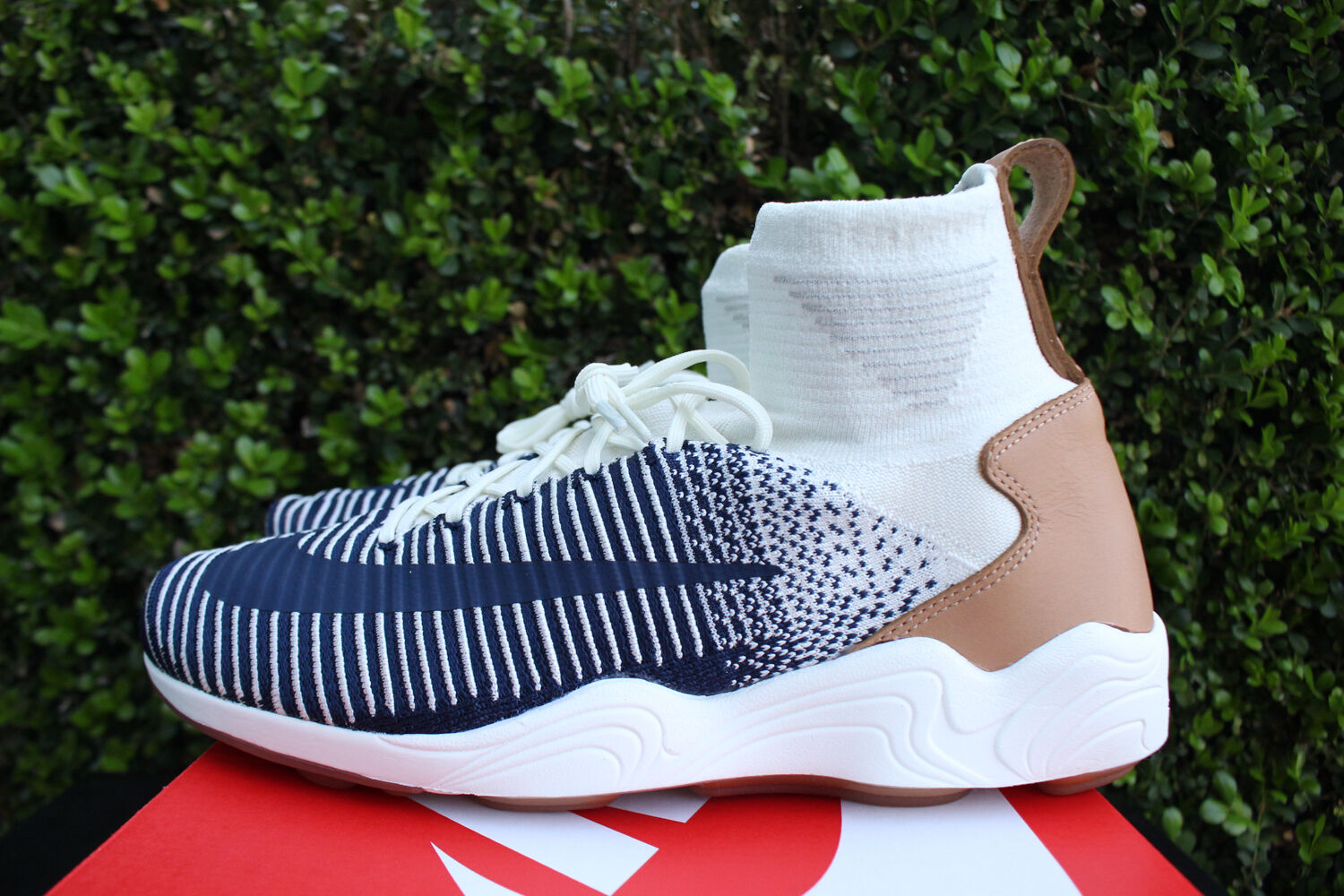 NIKE ZOOM MERCURIAL XI FLYKNIT SZ 10 FK SAIL CREAM NAVY PALE GREY 844626 101