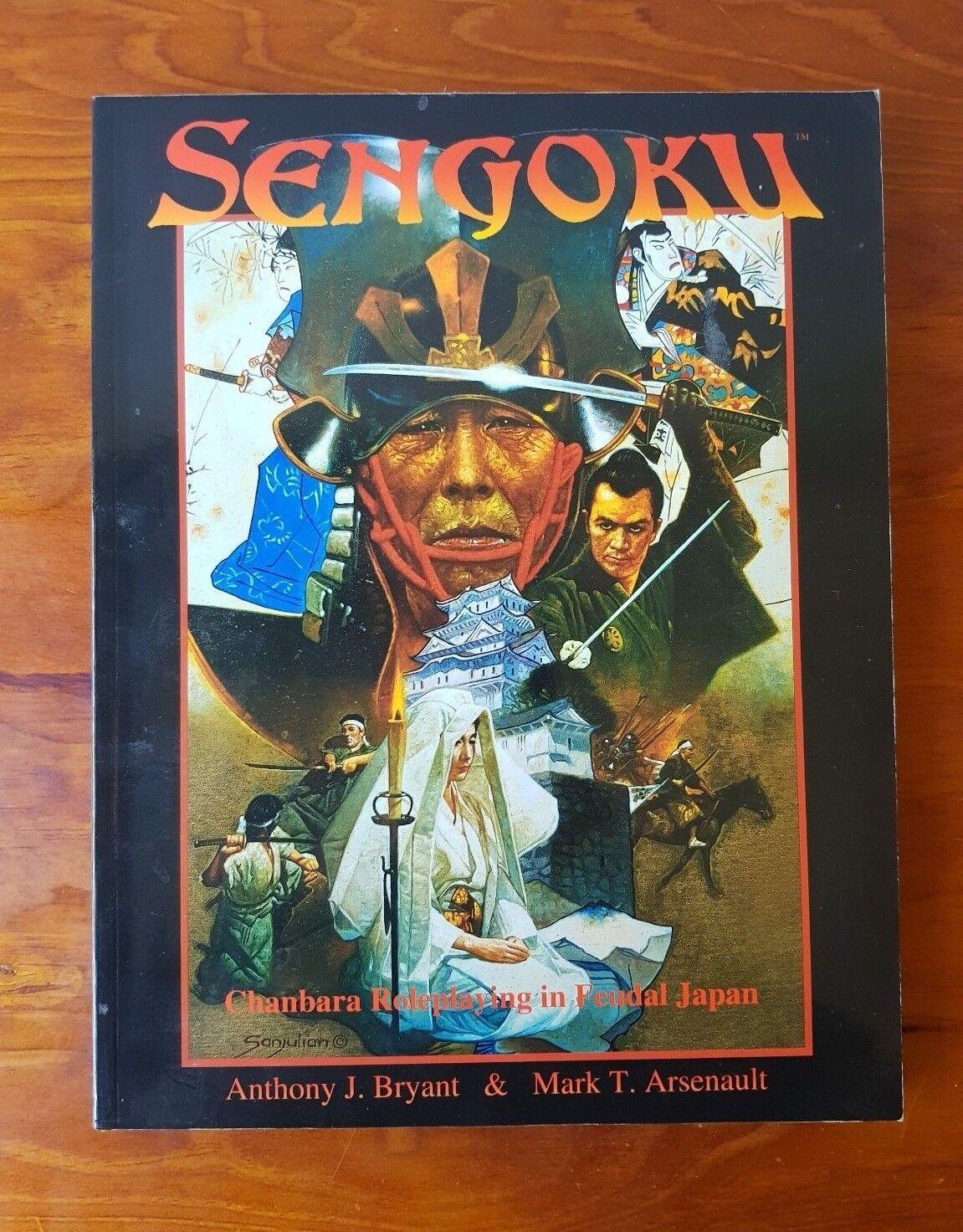 Sengoku Chanbara Roleplaying In 16th Century Feudal Japan RPG Book Rare Vtg 1999