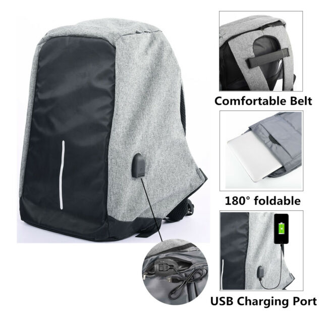 Smart School Bag Anti Theft College Travel Backpack USB Charging Laptop  Student