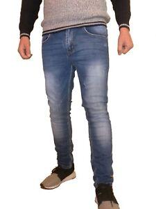 Jeans-Panatalone-Uomo-slim-Fit-elasticizzato-semplice-casual-7642
