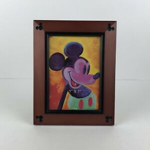 Disney-Parks-Picture-Frame-5x7-Wood-Carved-Disney-Mickey-Mouse-Ears-Beveled