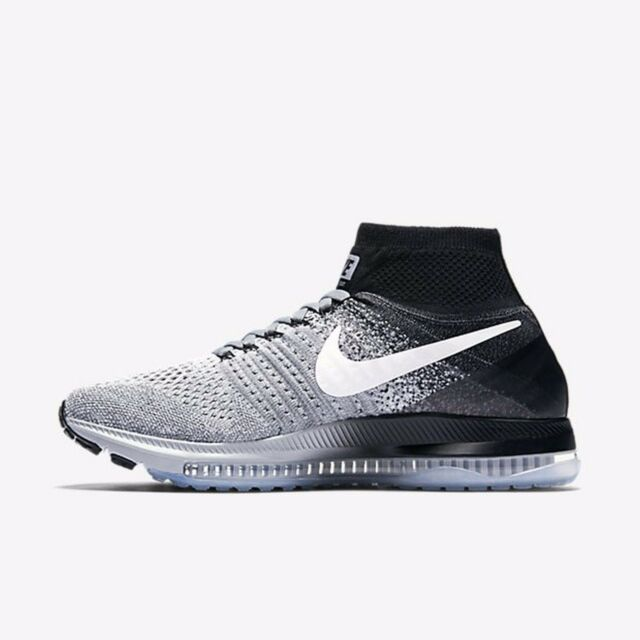 4e015601c25 Nike WMNS Zoom All out Flyknit Wolf Grey White Women Running Shoes ...