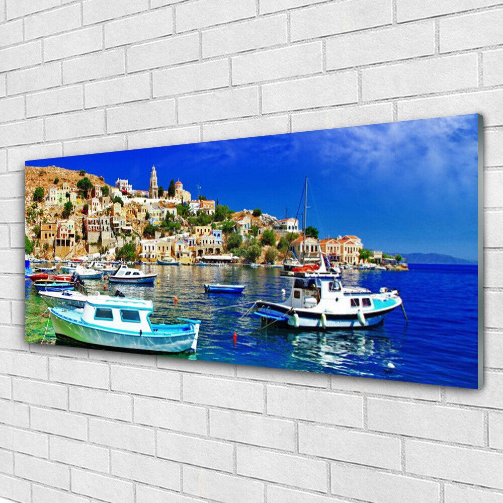 Acrylglasbilder Wandbilder aus Plexiglas® 125x50 Stiefele Stadt Meer Landschaft
