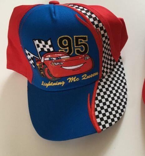 Disney Cars Cap 52 54 rot schwarz Kappe Mütze Sommer Baseballcap Auto McQueen