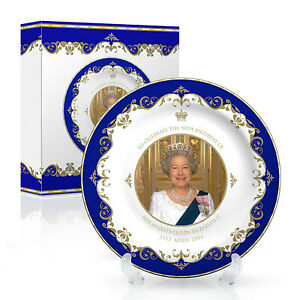 Queen-Elizabeth-90th-Birthday-8-034-Inch-20-cms-Bone-China-Plate-1926-2016-new