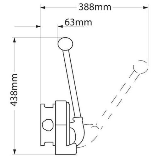 Whale Bomba de Achique Manual Gusher Titan Schottmontage