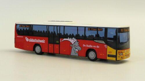 "Setra 415 Autopostale Ptt 83 /"" Chur /"" O 81 /"" Flims Villaggio /"" AWM Swissmodelle"