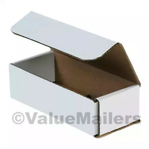 100 - 7 x 4 x 2 White Corrugated Shipping Mailer Packing Box Boxes