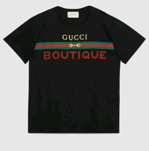 Gucci Men's UNISEX Black Tshirt Gucci Boutique Pri