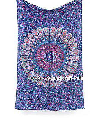 Twin Indian Mandala Bedspread Wall Hanging Hippie Throw Bohemian Tapestry Decor