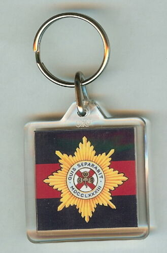 Acrylic Military Key Ring Irish Guards