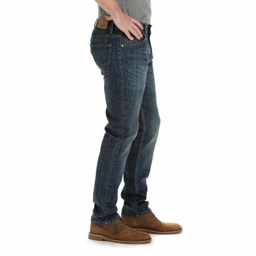 NWT Lee Dungarees Men/'s Skinny Bottom Opening Jeans Durability Stretch Denim NEW