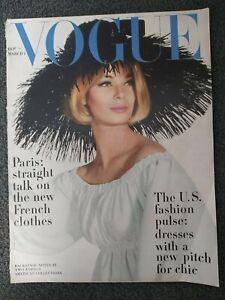 March 1963 VOGUE Magazine - Women's Fashion