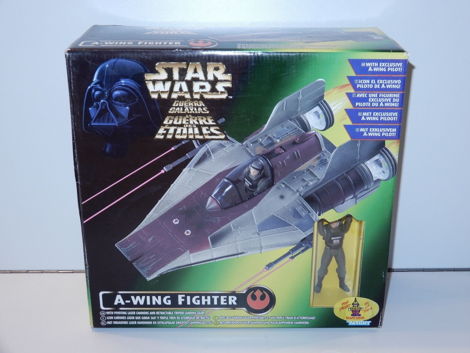 STAR WARS 1996 POTF2 A-WING FIGHTER MIB TRI-LOGO BOX KENNER
