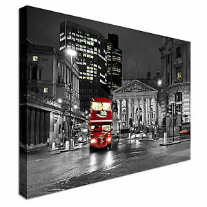 Red-Route-master-Bus-Canvas-Art-Cheap-Wall-Print-Large-Any-Size