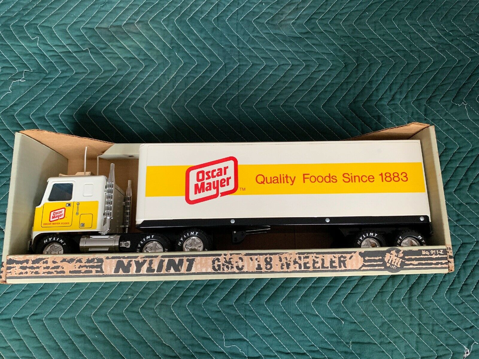 Nylint Gmc 18-wheeler Grün Giant In Box, Vintage