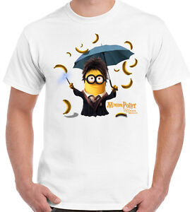 Details about Minion Potter - Mens Funny T-Shirt - Harry Minions Parody  Mash Up BANANAS!!