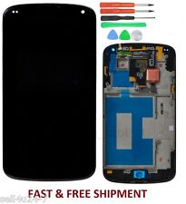 New Google Nexus 4 LG E960 LCD Digitizer Assembly Touch Screen Display + Frame