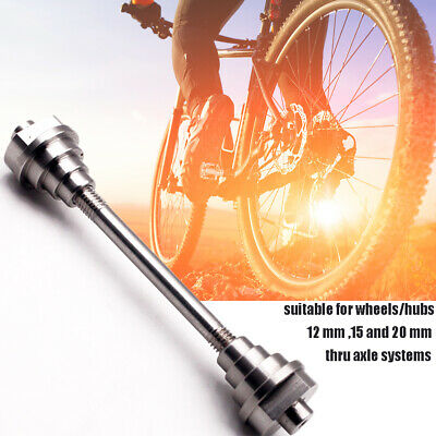 12//15//20mm Axles Bike Wheel Truing Stand Adapters Thru-Axle Hubs Set Accessories