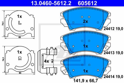 VA 13.0460-5612.2 für OPEL INSIGNIA A Stufenheck ATE Bremsbelagsatz Vorderachse