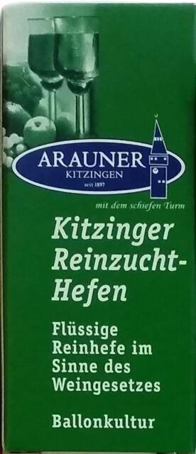 Reinzuchthefe für 50l Wein ARAUNER Weinhefe- Flüssighefe 20ml- 16 Sorten AUSWAHL