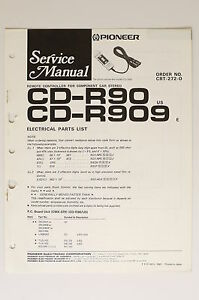 Details about Pioneer CD-R90 CD-R909 Original Service Manual/Instruction/Wiring on