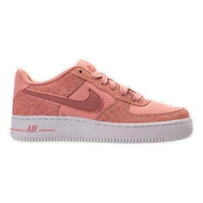 2c79bf044a9e Nike Air Force 1 LV8 GS Casual Shoes Coral Stardust Rust Pink White 849345