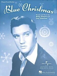 image is loading blue christmas sheet music piano vocal piano vocal - Blue Christmas By Elvis Presley
