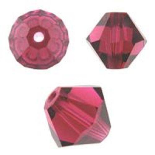 144 PCS Ruby Color 5328 4mm Approx Swarovski Crystal Bicone