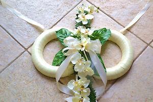 exclusiver  Autoschmuck  Autogesteck Orchidee Doppelringe Hochzeit