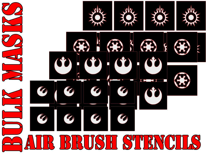 Star Wars X-Wing BULK BUY Airbrush Paint Masks sets (Ideal for Shop club)