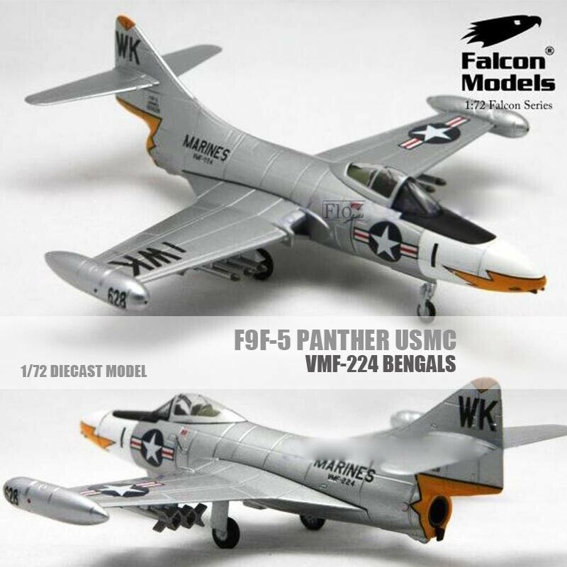 Falcon Models F9F-5 Panther USMC VMF-224 Bengals 1 72 diecast model aircraft