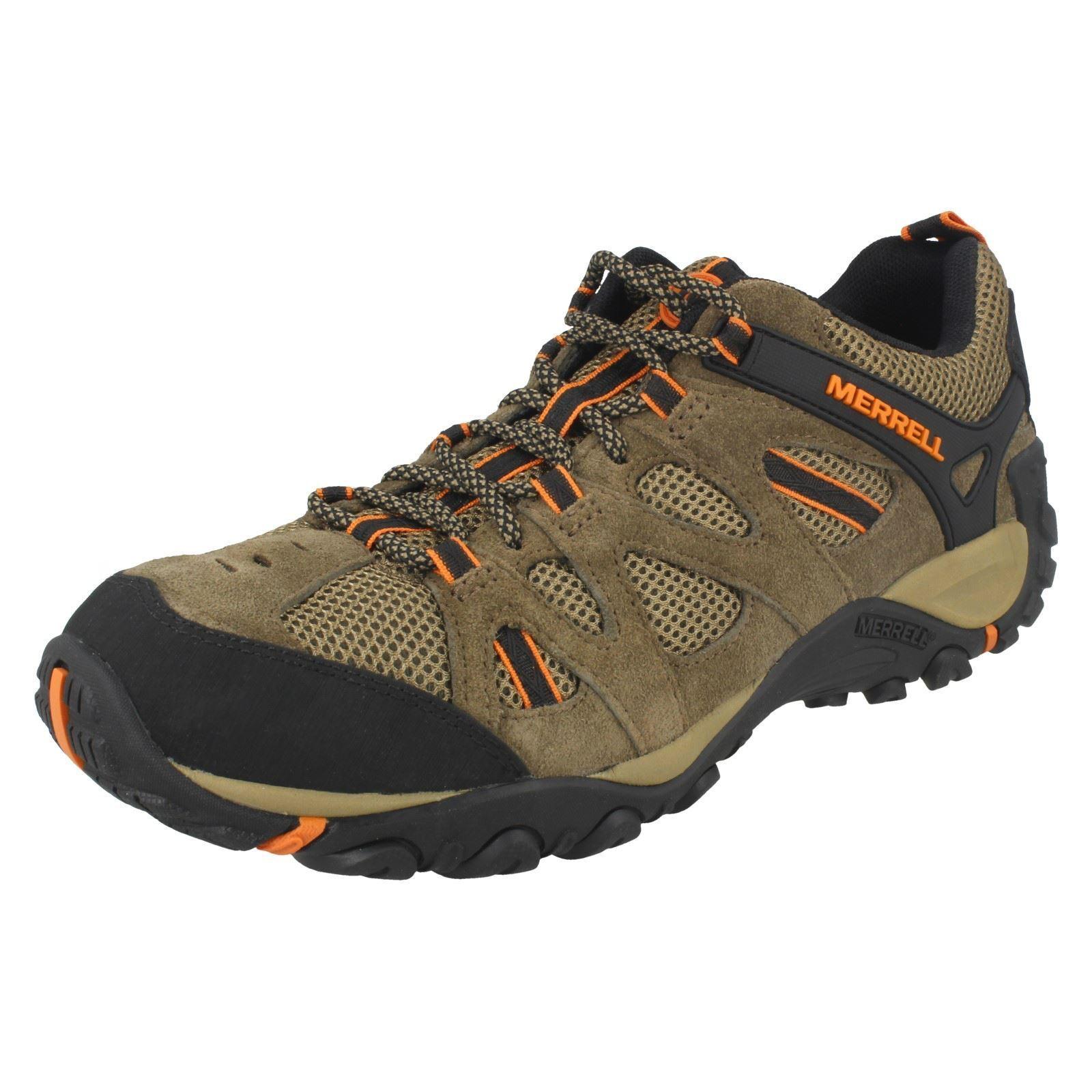 Mens Merrell Casual Lace Up Leather Walking shoes Yokota Ascender Vent J343718C