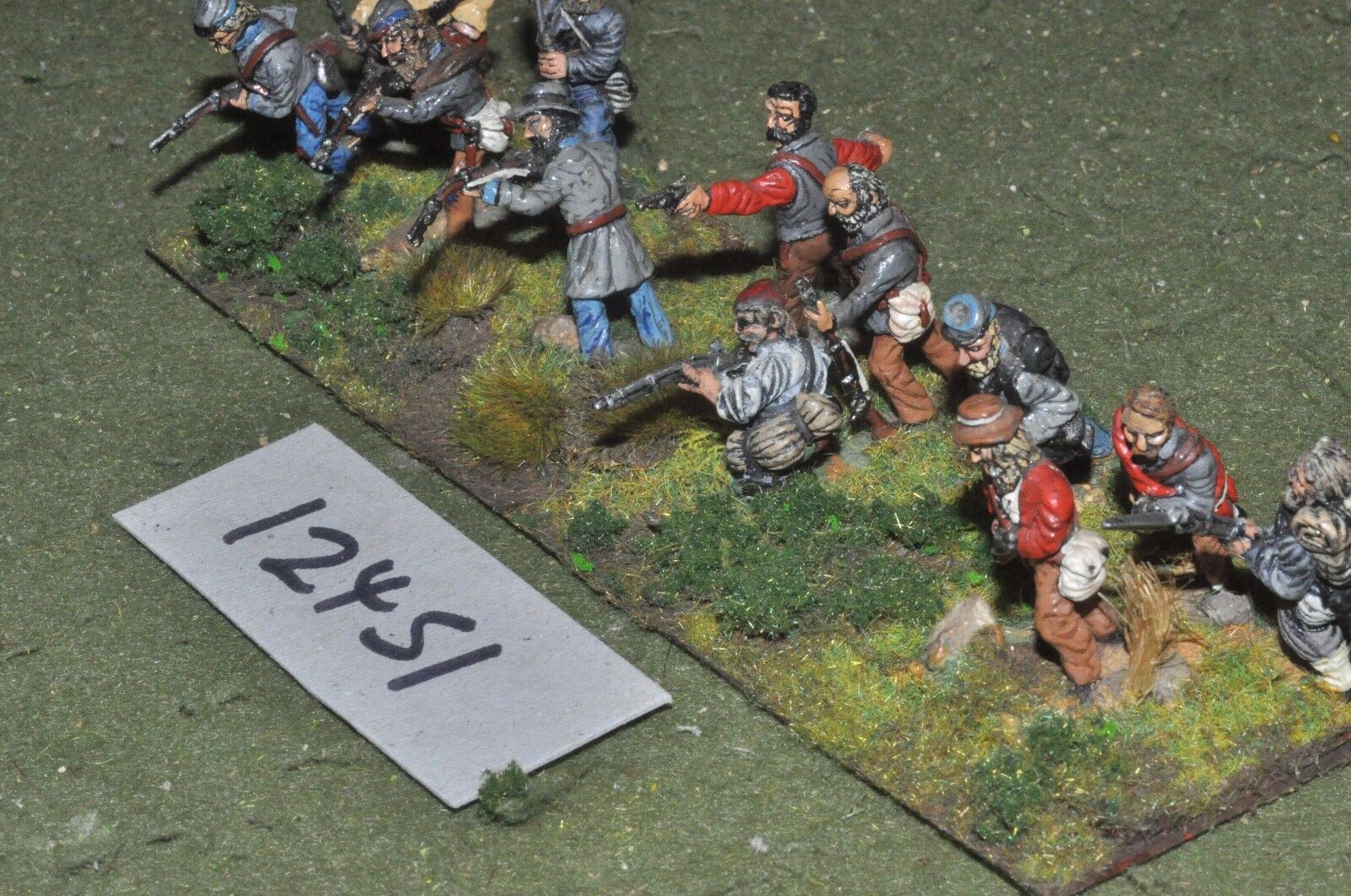 25mm ACW   confederate - american civil war infantry 12 figures - inf (12451)