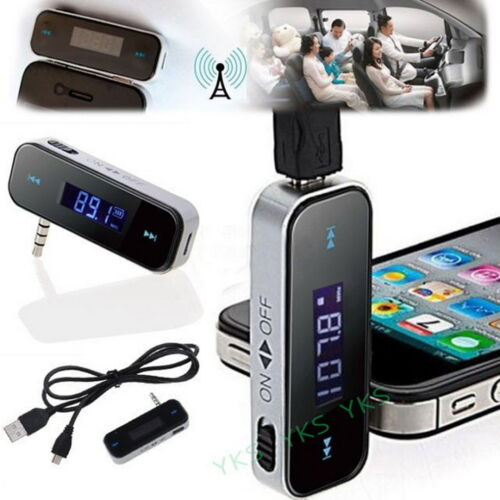 New Wireless Music to Car Radio FM Transmitter 3.5mm MP3 For iPhone 6S 5 iPod
