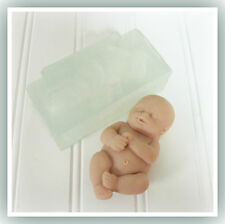 One Piece 4 Inch Chubby Baby Clear Silicone Mold for Food or Crafts
