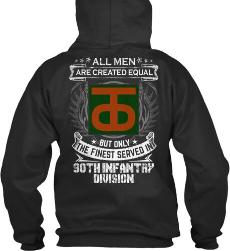 All Men Are Created Equal But Standard College Hoodie 90th Infantry Division