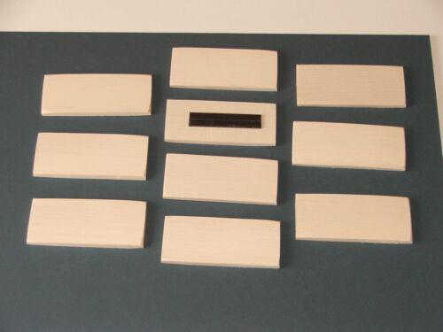 90MMX40MM-10 por £ 8.25 incl Post Sycamore en Blanco Imanes para refrigerador de madera dura
