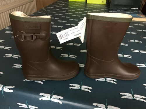 Brun Size Euro 19 Brand New Aigle Kids Perdrix Wellies