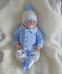 Easy-dk-knitting-pattern-instructions-to-knit-baby-boys-cardigan-set