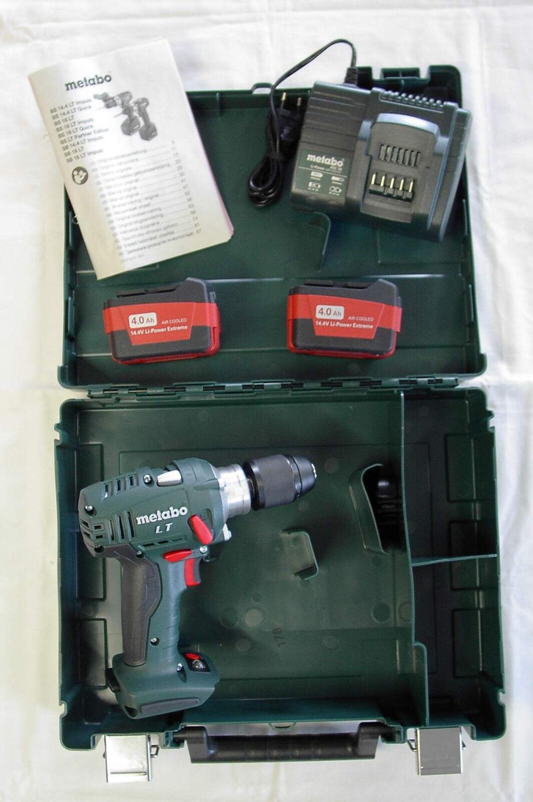 Metabo Akku-Bohrschrauber BS 14.4 LT mit 2 Akkus 4,0Ah 6.02137.61 ASC30