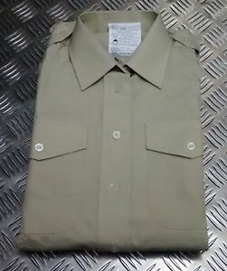 Genuine British Army All Ranks No2 Dress Shirt Or Blouse Fawn Womans Clothing, Shoes & Accessories Men's Clothing New